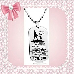 Other - Dad to Son Jewelry Dog Tag Necklace
